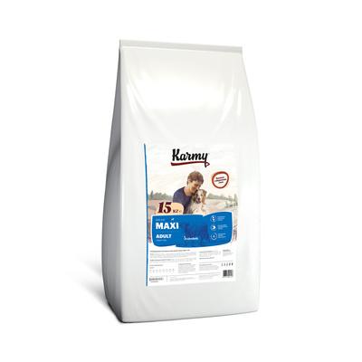 Karmy корм для взрослых собак крупных пород, телятина 15 кг