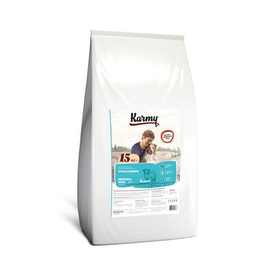 Karmy корм для взрослых собак средних и крупных пород, гипоаллергенный, ягненок 15 кг