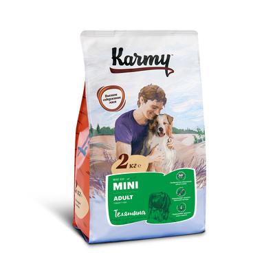 Karmy корм для взрослых собак малых пород, телятина 2 кг