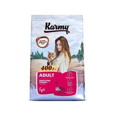 Karmy корм для взрослых кошек, гусь 400 гр