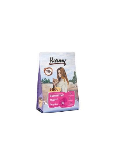 Karmy корм для взрослых кошек, деликатное пищеварение, индейка 400 гр