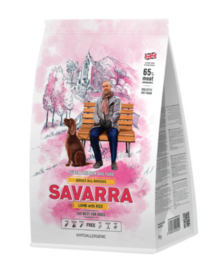 Savarra Сухой корм для взрослых собак Ягненок и рис Adult Dog Lamb 5649051, 3,000 кг, 53764