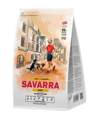 Savarra Сухой корм для щенков Индейка и рис Puppy 5649001, 3,000 кг, 53750