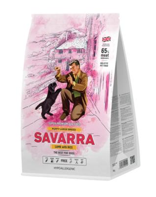 Savarra Сухой корм для щенков крупных пород Ягненок и рис Puppy Large Breed 5649012, 12,000 кг, 53752