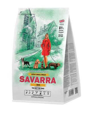 Savarra Сухой корм для взрослых собак мелких пород Утка и рис Adult Dog Small Breed 5649020, 1,000 кг, 53753
