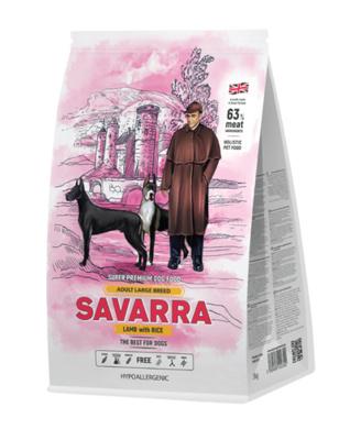 Savarra Сухой корм для взрослых собак крупных пород Ягненок и рис Adult Dog Large Breed 5649031, 3,000 кг, 53756