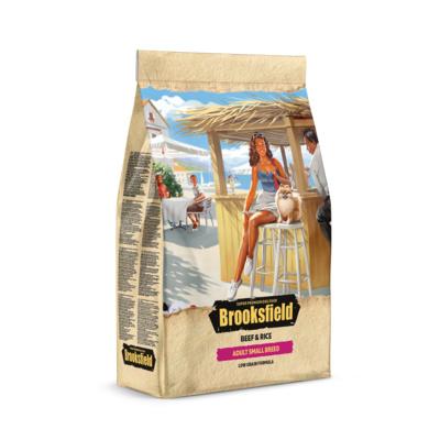Brooksfield Сухой корм для взрослых собак мелких пород Говядина и рис Low Grain Small Breed 5651020, 0,800 кг, 53810