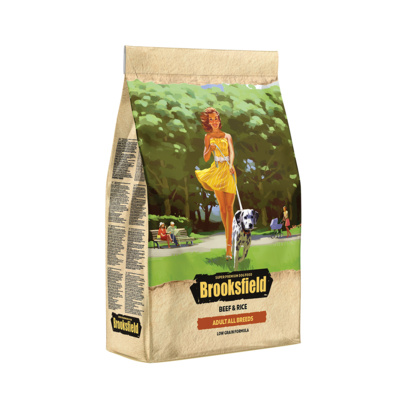 Brooksfield Сухой корм для взрослых собак Говядина и рис Low Grain All Breeds Beef 5651052, 12,000 кг, 53819