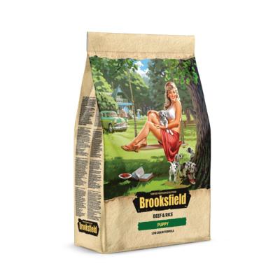 Brooksfield Сухой корм для щенков Говядина и рис Low Grain Puppy 5651000, 0,800 кг, 53806