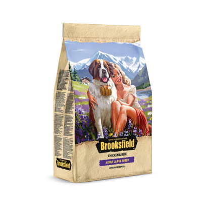 Brooksfield Сухой корм для взрослых собак крупных пород Курица и рис Low Grain Large Breed 5651031, 3,000 кг, 53812