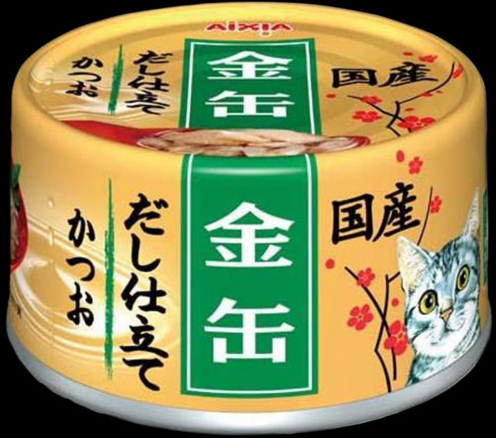 AIXIA Kin-Can Dashi конс для кош, полосатый тунец, 70гр 1/24/48 GCD-8