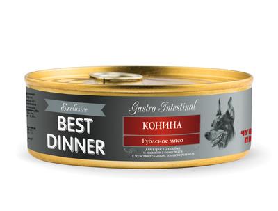 Best Dinner Консервы Exclusive Gastro Intestinal Конина 7642, 0,100 кг