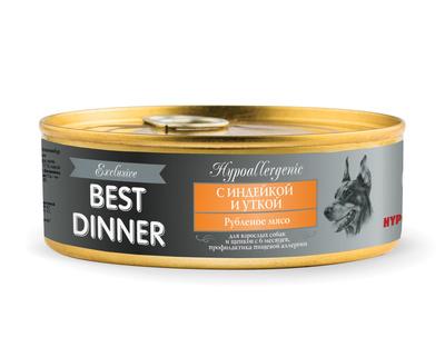 Best Dinner Консервы Exclusive HypoallergenicС индейкой и уткой 7636, 0,100 кг