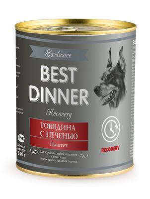 Best Dinner Паштет Exclusive Recovery Говядина с печенью 7653, 0,340 кг