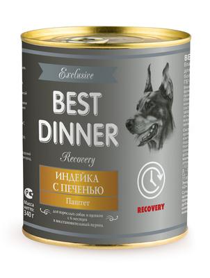 Best Dinner Паштет Exclusive Recovery Индейка с печенью 7655, 0,340 кг