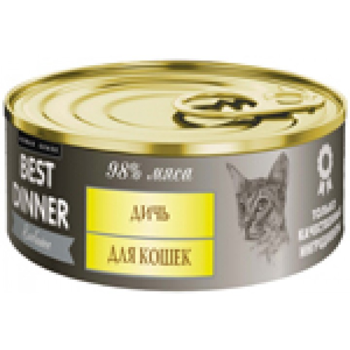 Best Dinner влажный корм для кошек, чувствительное пищеварение, дичь 100 гр