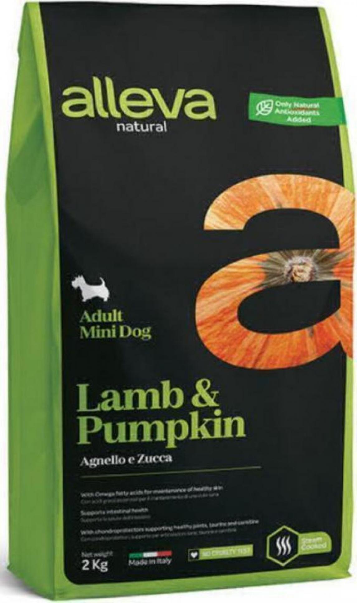 ALLEVA NATURAL DOG длЯ собак Adult Lamb & Pumpkin Mini  взрослых с ягненком и тыквой 2кг 2110
