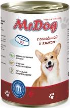 Мистер Дог 60132 кон.д/собак с Говядиной и языком 410г