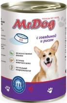 Мистер Дог 60354 кон.д/собак с Говядиной и рисом 410г