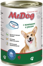 Мистер Дог 60378 кон.д/собак с Ягнёнком и рисом 410г