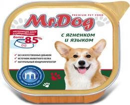 Мистер Дог 60231 кон.д/собак с Ягненком и языком 300г