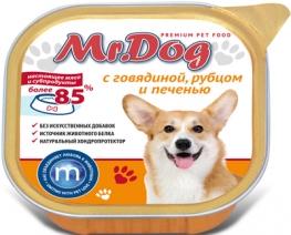 Мистер Дог 60279 кон.д/собак с Говядиной, рубцом и печенью 300г