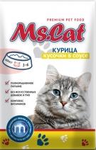 Мисс Кэт 60408 пауч д/кошек кусочки с Курицей в соусе 85г