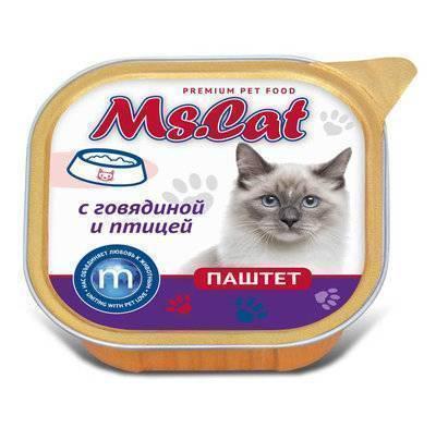 Мисс Кэт 60439 кон.д/кошек паштет с Говядиной и птицей 100г