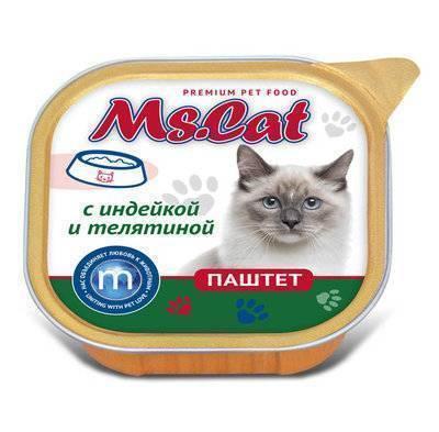 Мисс Кэт 60446 кон.д/кошек паштет с Индейкой и телятиной 100г