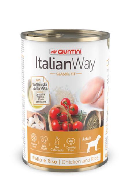 Italian Way Консервы Консервы для собак с курицей,томатами и рисом (ITALIAN WAY CLASSIC CHICKEN/RICE) UITWA13480, 0,400 кг, 36577