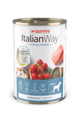 Italian Way Консервы Консервы для собак с чувствительной кожей с лососем,томатами и рисом (ITALIAN WAY WET HYPO SALMON) UITWA11480, 0,400 кг, 36573
