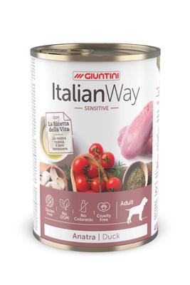 Italian Way Консервы Консервы для собак с чувствительным пищеварением с уткой,томатами и картофелем (ITALIAN WAY WET SENSITIVE DUCK) UITWA12480, 0,400 кг, 36575