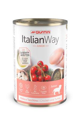 Italian Way Консервы Консервы для щенков мясное ассорти с томатами и рисом (ITALIAN WAY WET DOG JUNIOR) UITWA10480, 0,400 кг, 36571