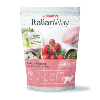 Italian Way Безглютеновый корм для котят с курицей и индейкой (ITALIAN WAY KITTEN CHICKEN/TURKEY) GITWA01040, 0,400 кг