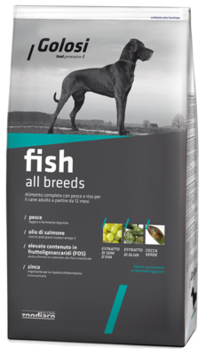 Golosi ВИА Сухой корм Рыба и рис для всех пород, сухой корм для собак, 12,0 кг ZGD27541, 12,000 кг