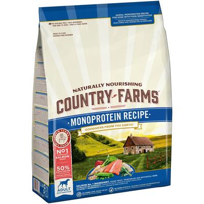 Country Farms корм для взрослых собак всех пород, монопротеиновый, лосось 2,5 кг