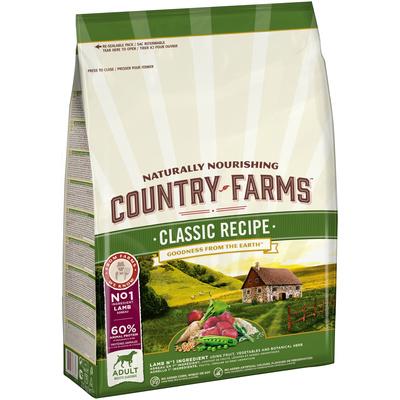 Country Farms Сухой корм полнорационный для взрослых собак, с высоким содержанием ягненка 77943, 2,500 кг