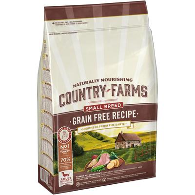 Country Farms Сухой корм беззерновой полнорационный для взрослых собак мелких пород, с высоким содержанием индейки 78123, 2,500 кг