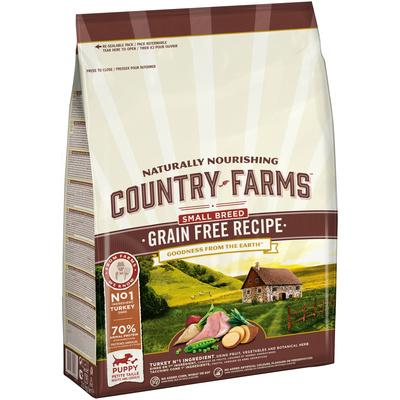 Country Farms корм для щенков малых пород, беззерновой, индейка 2,5 кг
