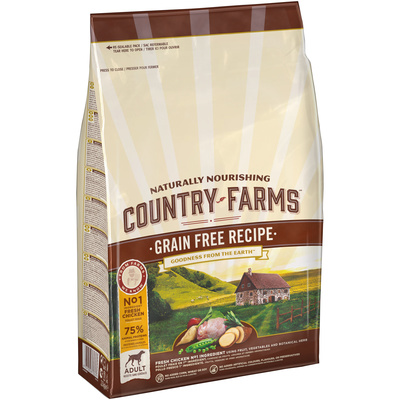 Country Farms корм для взрослых собак всех пород, беззерновой, курица 11 кг