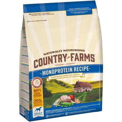 Country Farms корм для взрослых собак всех пород, монопротеиновый, курица 2,5 кг