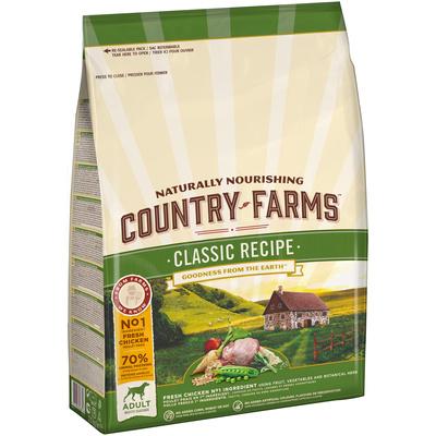 Country Farms Сухой корм для взрослых собак с высоким содержанием курицы 76664, 12,000 кг