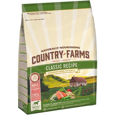 Country Farms Сухой корм для взрослых собак с высоким содержанием лосося 76662, 2,500 кг