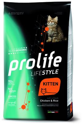 Prolife Сухой корм для кошек Lifestyle Kitten Курица и Рис ZCD36086, 1,500 кг