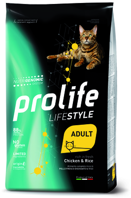 Prolife ВИА Сухой корм для кошек Lifestyle Adult Курица и Рис ZCD36109, 0,400 кг