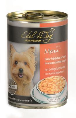 Edel Dog ВИА Нежные кусочки в соусе  (птица морковь) , 1,200 кг