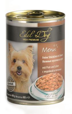 Edel Dog ВИА Нежные кусочки в соусе (индейка печень) , 1,200 кг