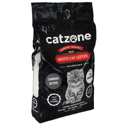 Catzone комкующийся наполнитель для кошачьих туалетов, с активированным углем, без запаха 5 кг