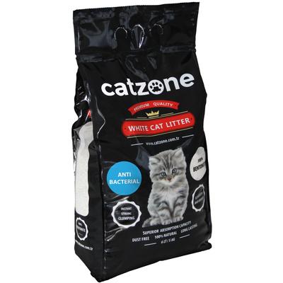 Catzone комкующийся наполнитель для кошачьих туалетов, антибактериальный, морской бриз 5 кг