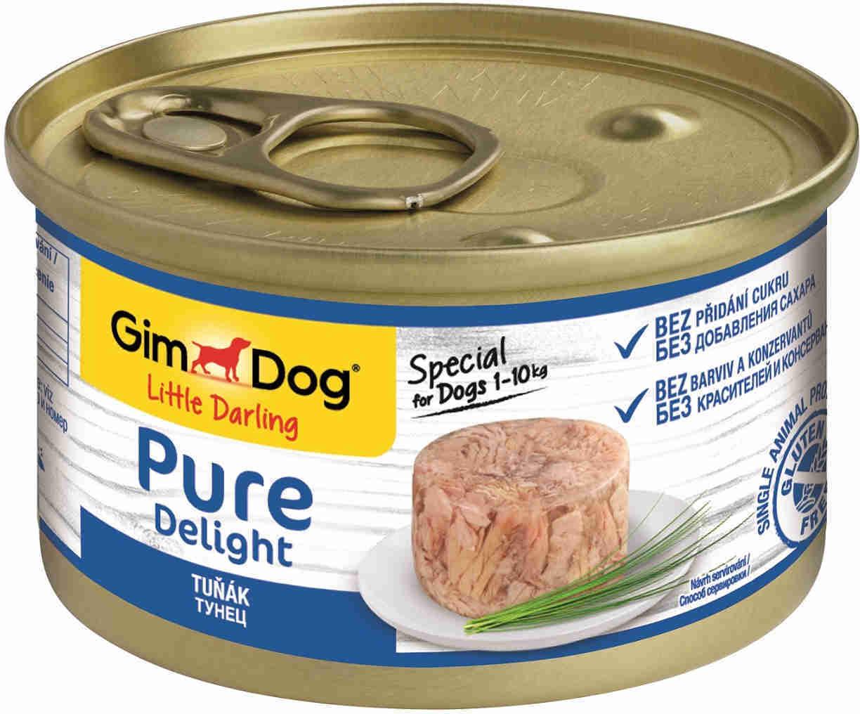 GimDog Pure Delight влажный корм для взрослых собак всех пород, тунец 85 гр